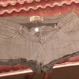 Grey Hollister short shorts